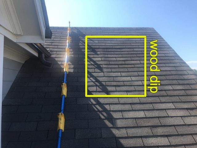 Canton, GA - if you see something unusual on your roof have a professional inspector take a look. you could have a slow leak that is being soaked up by your roof decking. This can result in mold growing in the attic and potential respiratory problems. Get your roof checked regularly!