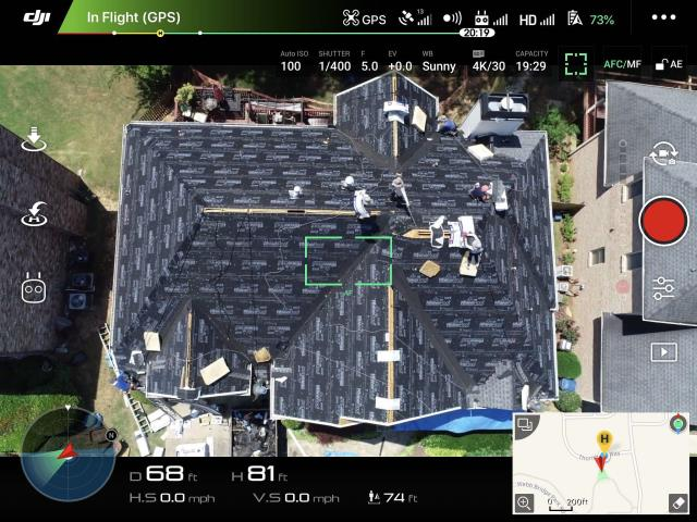 Alpharetta, GA - it is so cool to see the drone pictures of a roof installation. We offer our homeowners a link to the photos of the inspection and on the day the roof is going one. These photos update in real time! if you want a free inspection call us today on 678 757 3477