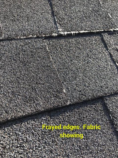 Marietta, GA - As a roof gets older the granules loosen and the asphalt matting underneath starts to show. Have you roof checked regularly 678 757 3477