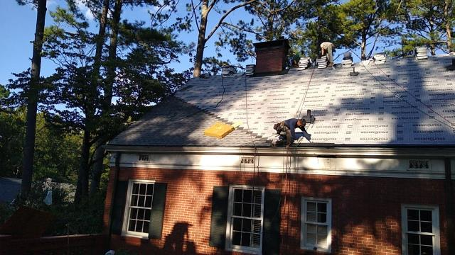 Marietta, GA - Installing this roof today, we just love to see the finished product. If you need a new roof we can help, we offer financing as well as a 10 year warranty! Marietta GA