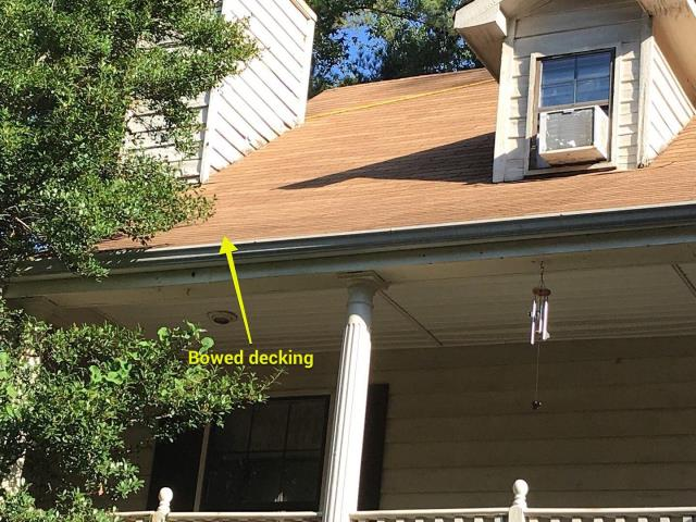 Kennesaw, GA - Soft decking means water intrusion and rotten wood. Have your roof inspected regularly by a professional, licensed GA roofer