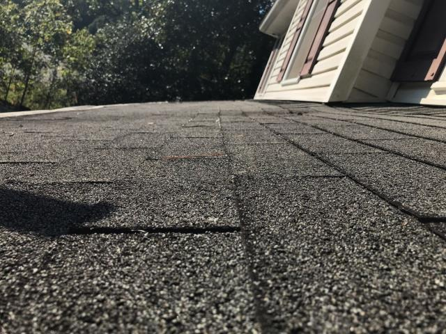 Marietta, GA - Roof replacement recommended. This 20 year old 3 tab is displaying typical signs of wear and tear for a roof of this age. We offer financing and accept credit card. We are here to advice you on the next course of action!  678757 3477
