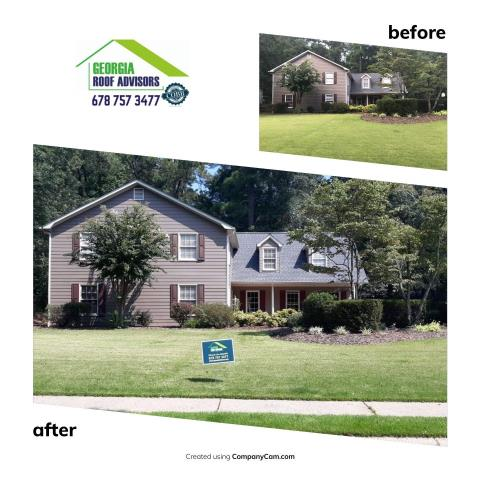Marietta, GA - Another successful roof replaced! Thank you team!