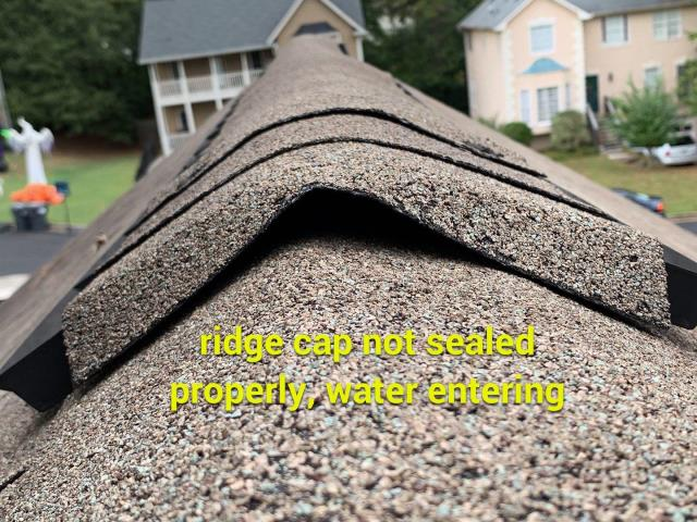 Marietta, GA - We give you a professional report of what is going on, on your roof. complete with photos and annotations. 