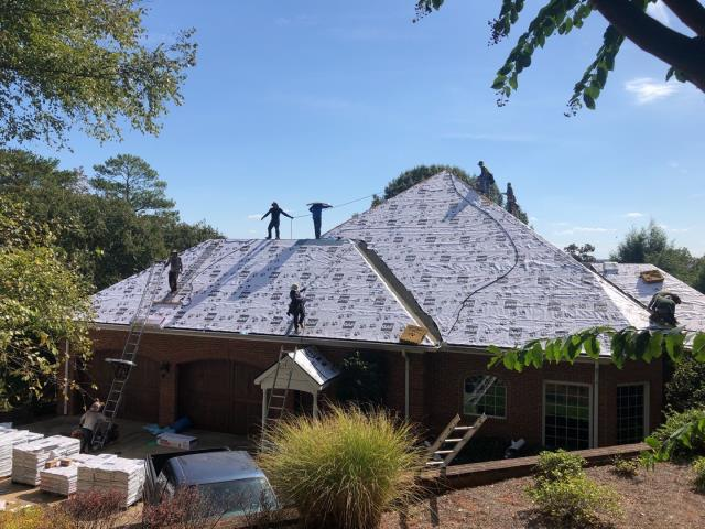Calhoun, GA - What a beautiful looking roof! I can't wait to see the designer shingles on this one!