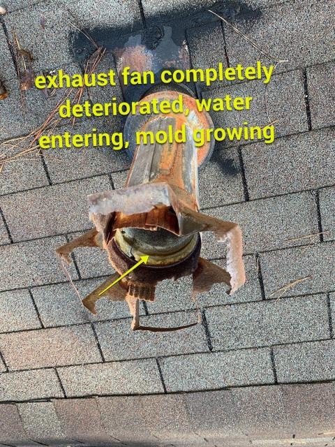 Marietta, GA - This homeowner has a leak, not surprising by what we have found on the roof! Do you have a leak? We are here to help, we provide free roof inspections, taking photos of what is going on so we can advise you on the next best course of action. We offer repairs and replacements. Call today for your free roof inspection 678 757 3477
