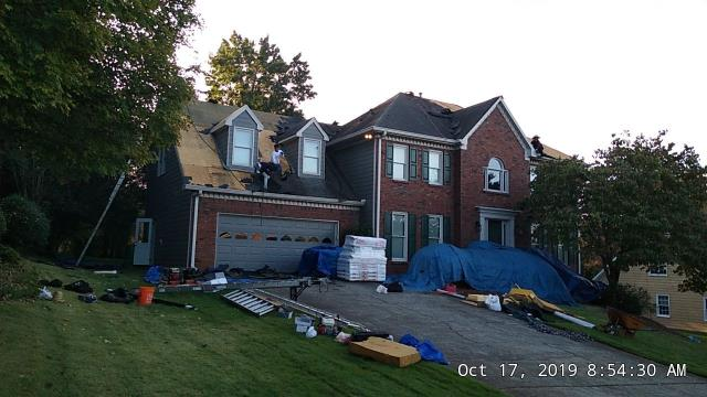 Marietta, GA - Replacing this roof today! What a beautiful day to upgrade a roof!