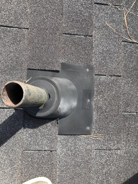 Kennesaw, GA - replacing this pipeboot will stop this slow leak! a slow leak may not be evident from the inside of a home but in the attic the wood could be decaying fast. Typically pipebots last 5-10 years, have your checked and replaced to avoid issues. 