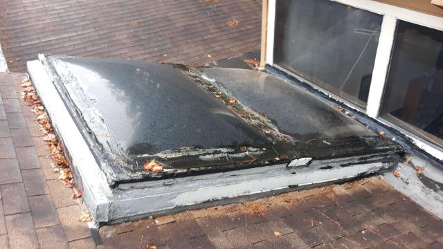 Marietta, GA - This homeowner has a leak coming from his skylight.  We have investigated the problem and have a great, inexpensive solution for them!