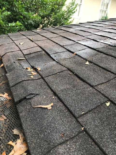 Atlanta, GA - Do you see the problem here? This homeowner has an internal leak as well as fascia problem. If left untreated it will cost more money to replace and fix!