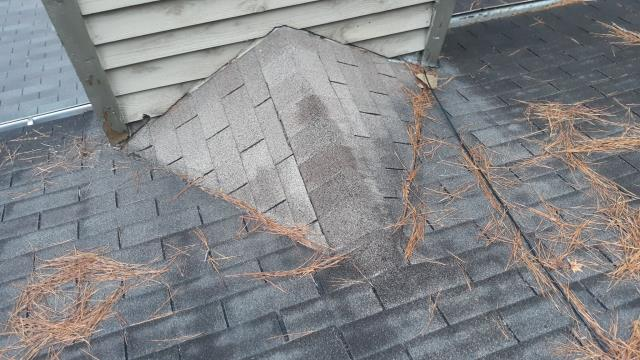 Atlanta, GA - This home owner has a leak near her chimney. Upon inspection we found some issues with chimney, not the roof. It needed a little bit of caulking and they are good to go! The roof is old and will need replacing in the near future.