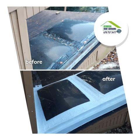 Marietta, GA - This skylight was leaking and causing the homeowner some problems. Issue resolved!