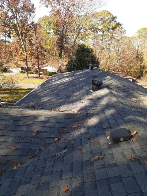Marietta, GA - This homeowner had several leaks coming through. We have now repaired the leak, replaced the pipe boots and secured the flu basket on the chimney