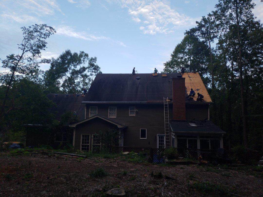 Marietta, GA - Tear off in progress