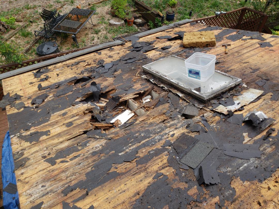 Marietta, GA - When  When we pull off roofing sometimes this is what we find. But at GRA we do it correctly and will replace any and all bad wood. Call for your free estimate and ask for Craig.