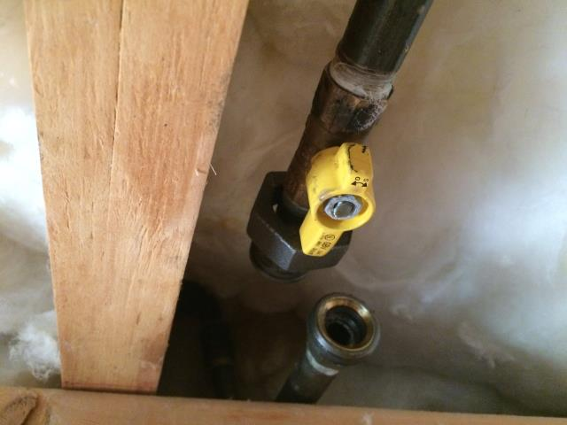 "Canton, GA - Repaired natural gas leak on 1/2"" valve feeding fireplace."