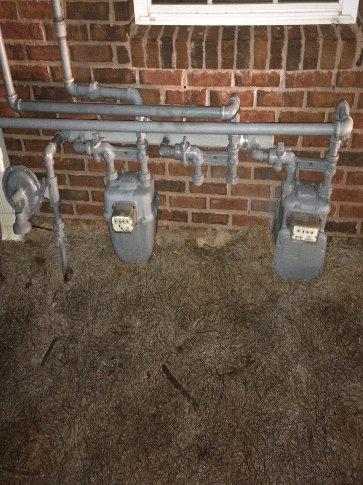 Estimate to tie 2 natural gas lines together for use on 1 meter.
