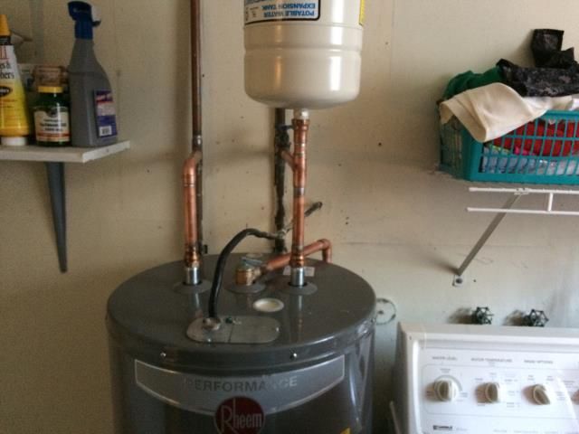 Taylorsville, GA - Installed Rheem Electric 40 Gallon water heater, ball valve, and pressure regulator. Checked other plumbing issues