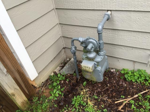 Made repair on natural gas line at meter. Checked other plumbing items
