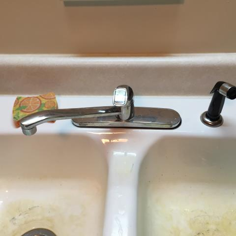 Delta kitchen faucet leaking. Rebuilt faucet and installed new springs and washers. Checked other plumbing