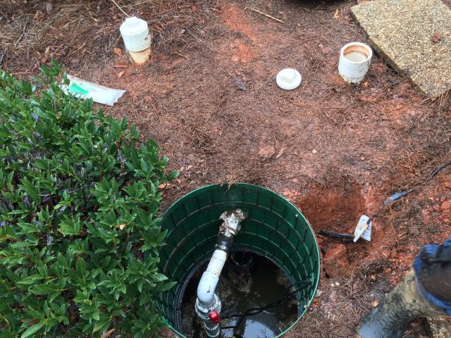 Cartersville, GA - Pump alarm sounding. Removed pump and found that pump was not working. Furnished and installed new plumbing sewer pump