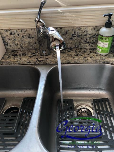 Installed customer furnished dishwasher and kitchen sink faucet in residence in Marietta, Ga