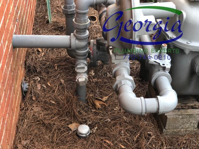"""Cartersville, GA - Disconnected and capped 2"""" natural gas line feeding old building at master meter. Found no other leaks at this time"""