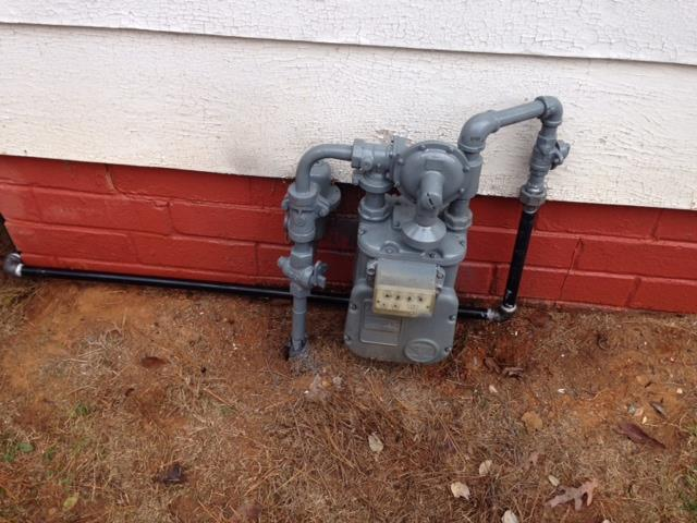 Canton, GA - Natural gas leak on customer fuel line. Installed new gas line into home. Checked all other plumbing