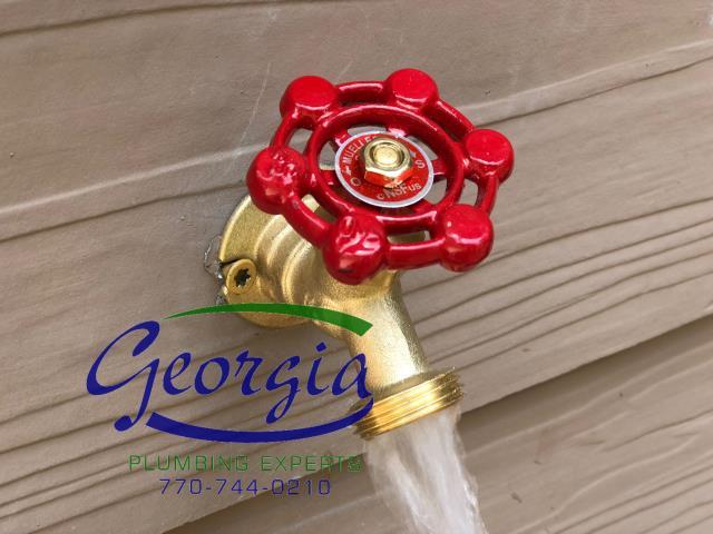 Furnished and installed new hosebibb spigot on back side of home. Also furnished and installed new PRV (pressure reducing valve)