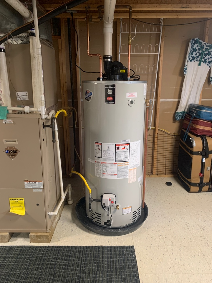 Mansfield, NJ - 75 gallon Bradford white power vent water heater install