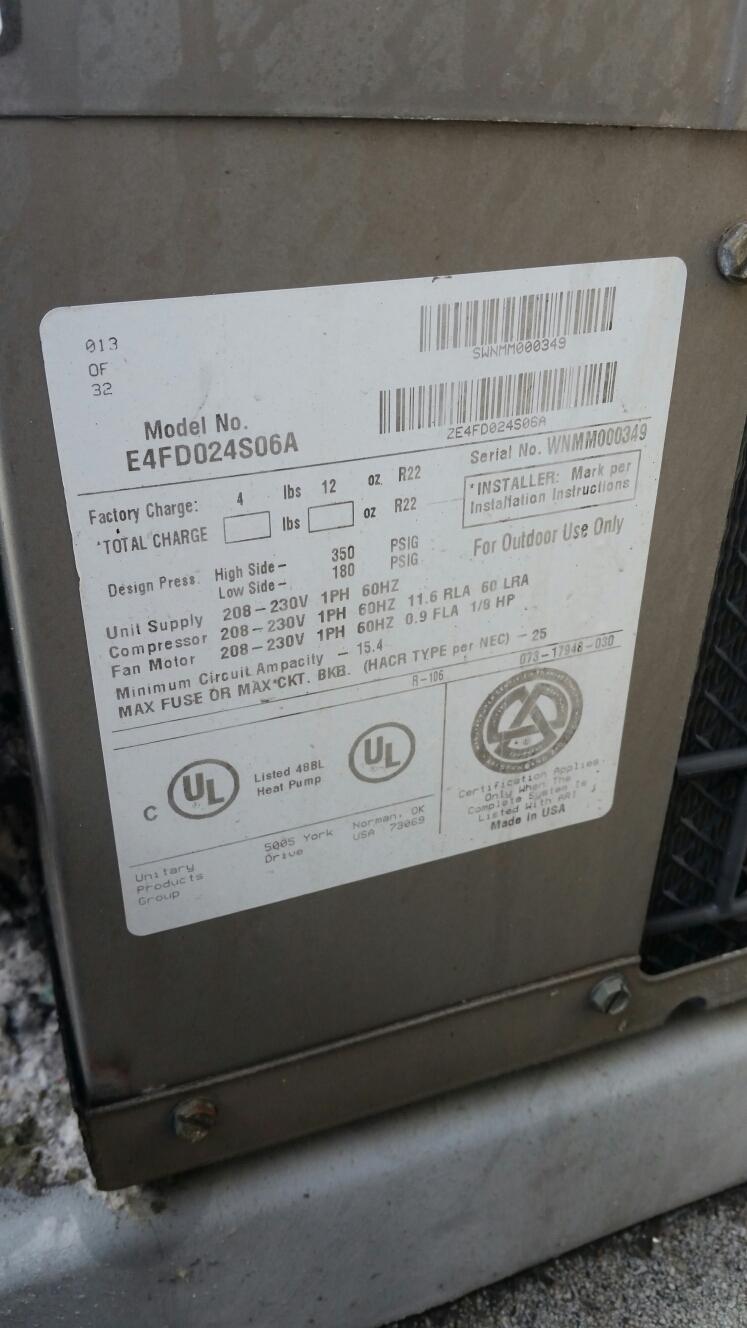 Laguna Beach, CA - Diagnosis on York commercial  split system heat pump outdoor unit, found failed defrost board