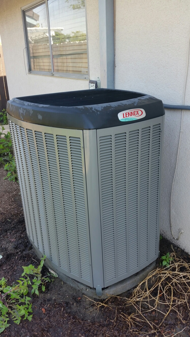 Whittier, CA - Performing energy savings maintenance on a lennox air conditioning system