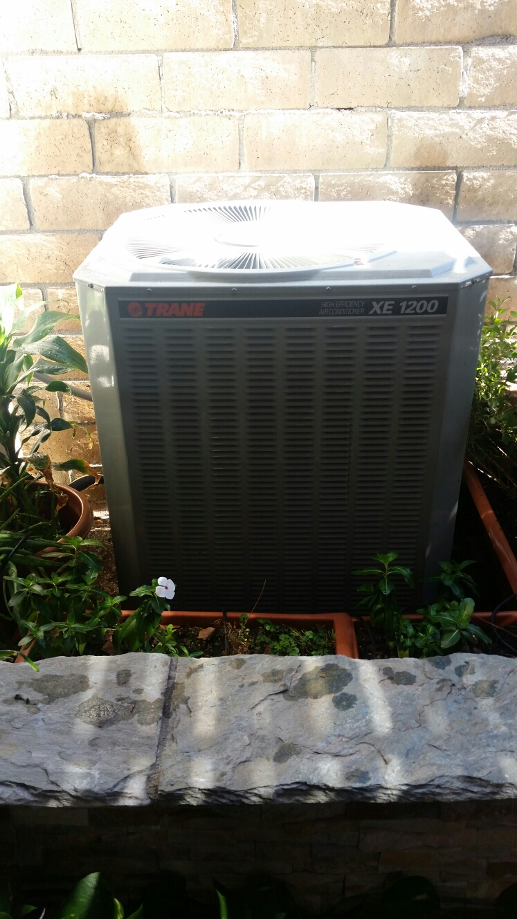 La Habra, CA - Residential Trane split system maintenance and safety switch installation