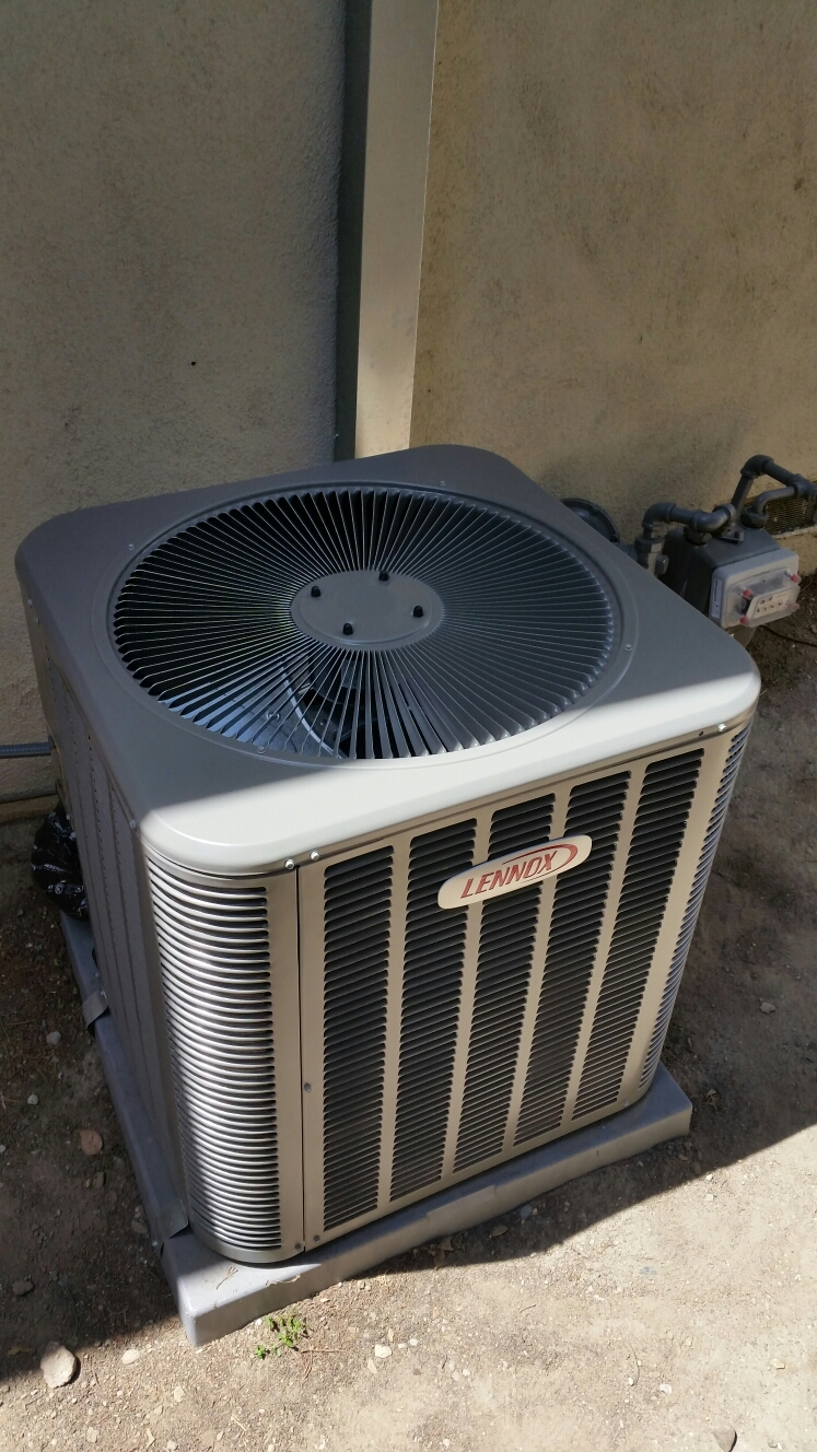 Orange, CA - Performing energy saving preventive maintenance on a lennox air conditioning system