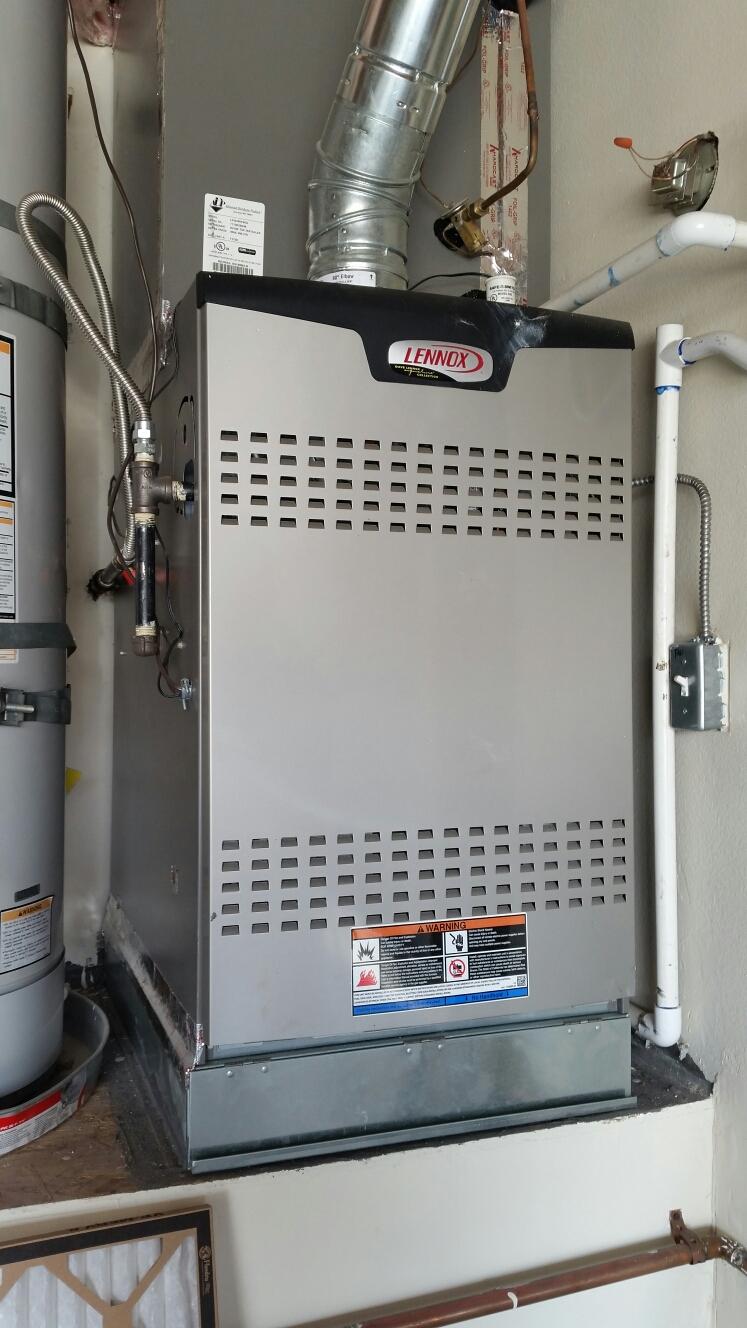 Diamond Bar, CA - Performing energy savings preventive maintenance on a lennox sl280 air conditioning system