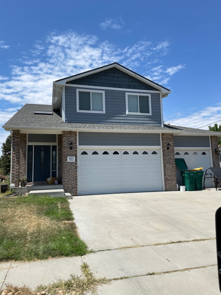 Milliken, CO - We are replacing the roof, gutters and painting the home as well. But before that can happen we will be working with the insurance company to make sure that this family has been properly taken care of by the insurance company.