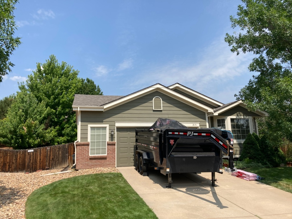Castle Rock, CO - We are replacing the hail damaged shingles and installing Owens Corning Oakridge shingles and updated the ventilation system to extend the longevity of the roof.