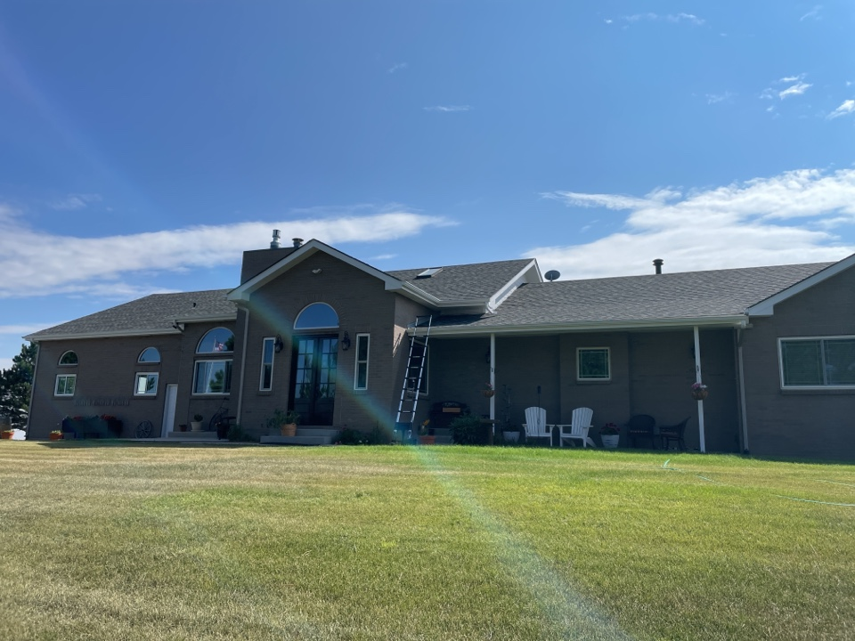 Elizabeth, CO - We are providing an estimate to install new exhaust vents on this roof to prevent snow blowing in due to the severe highwinds.