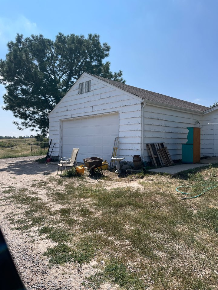 Franktown, CO - We are preparing to replace the siding Width fiber cement siding. Also we will paint the siding and trim.