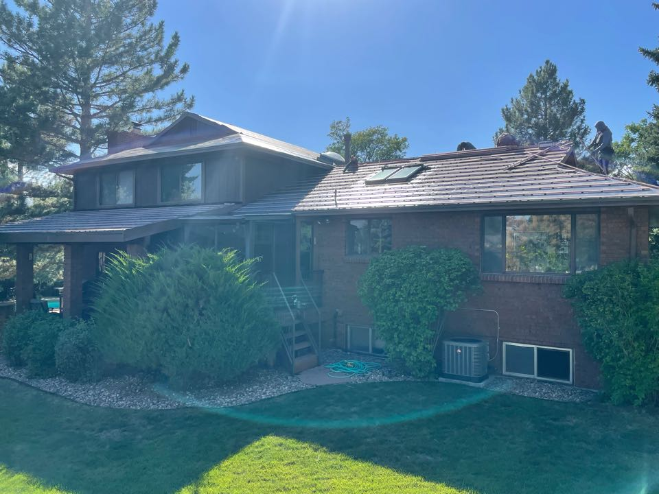 We are removing wood shake and replacing the old roof system with stone coated steel. The brand that has been chosen is Boral Stone Coated steel. At the moment we are installing ice and water and the elevated batons.