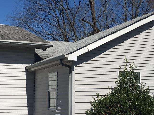 Maryville, TN - GAF Timberline HD Roof in Birchwood (Lifetime shingle warranty).  The gutters and downspouts were also replaced with Aluminum.  Completed March 2017