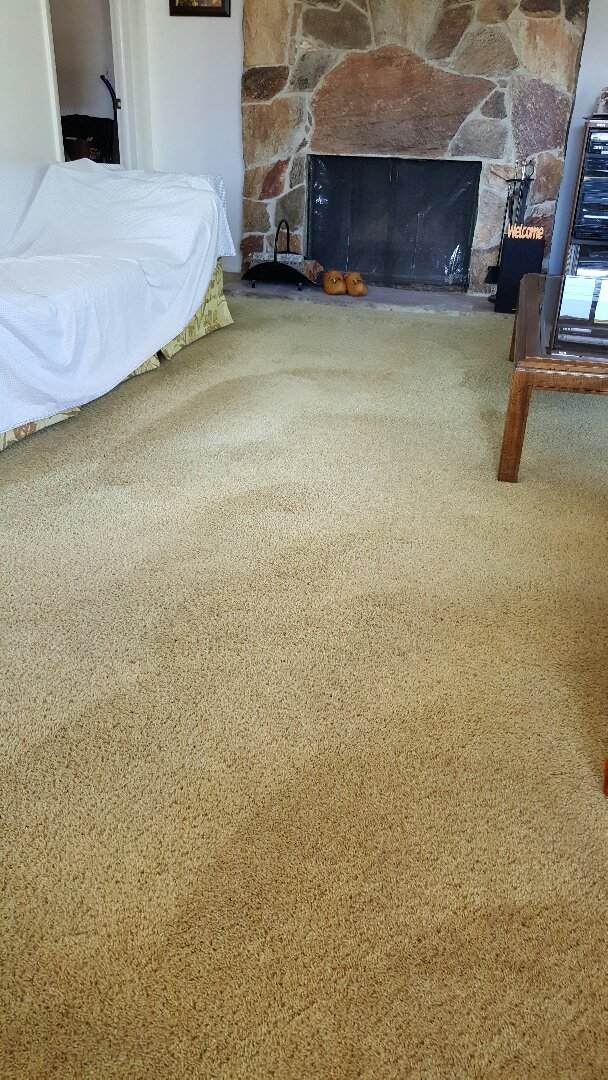 Carpet cleaning in Clearfield, Utah.  We are just cleaning the traffic areas and stairs in this 2 bedroom apartment.  As you can see, the carpets look fantastic. 801-298-8125  www.mrcd.com