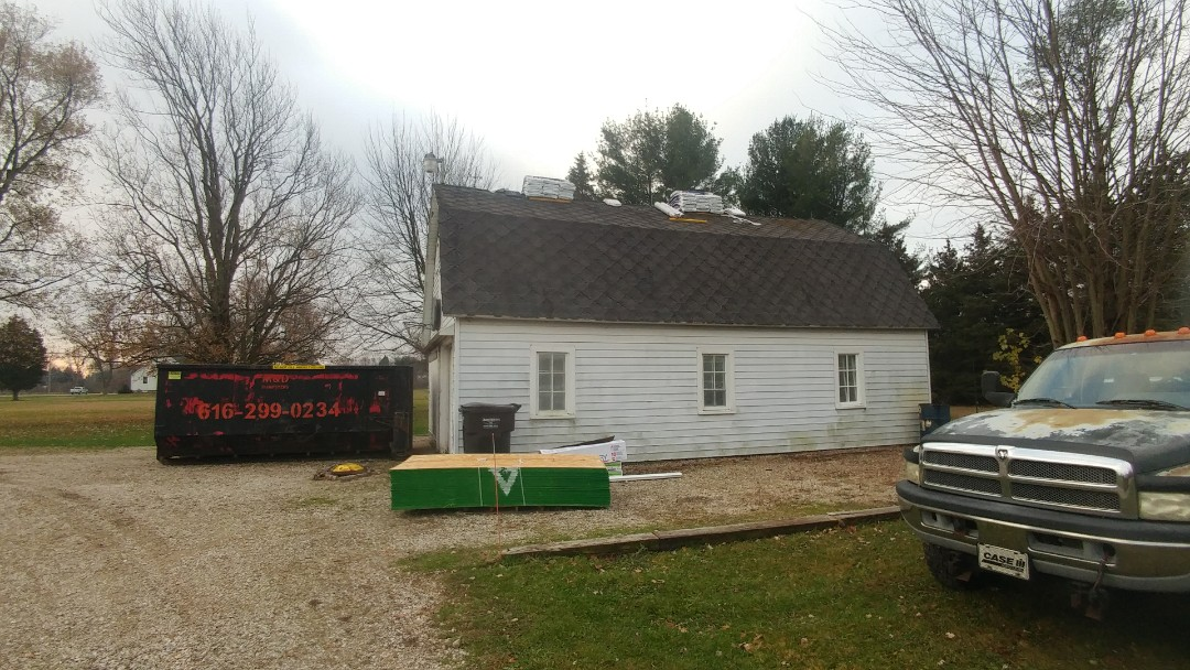 Zeeland, MI - This old barn is getting a brand new roof.  Can't wait to see what it looks like after