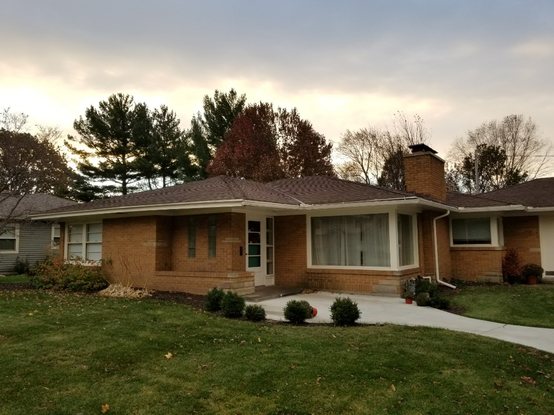 Holland, MI - Inspecting this roof and getting measurements for an estimate.  I love referrals!!!!