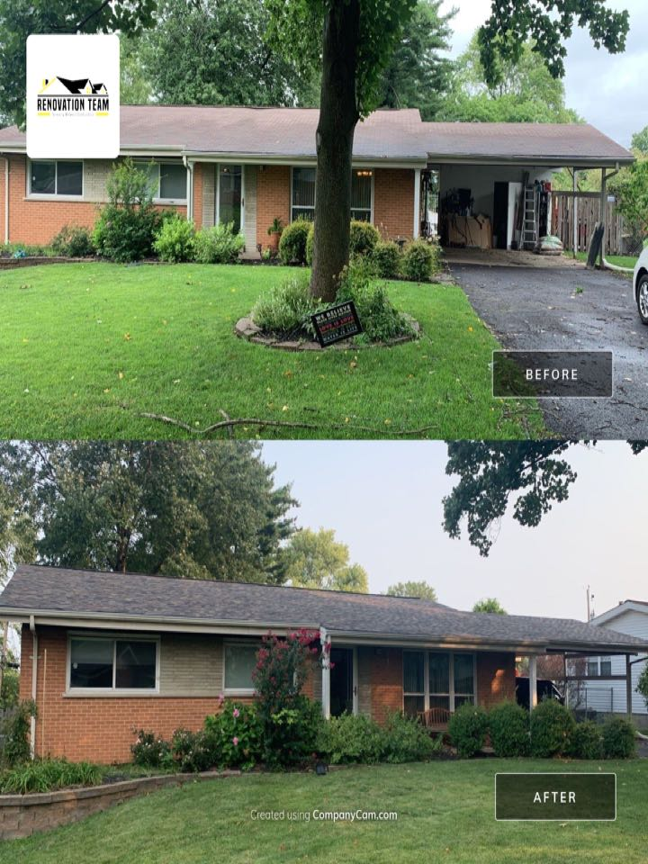 Saint Charles, MO - We installed this new asphalt shingle roof today in St. Peters, MO. The client chose Owens Corning Duration architectural shingles, color = sand dune. This was a hail damage claim paid for by insurance. They client was very happy with the roofing crew and Renovation Team.