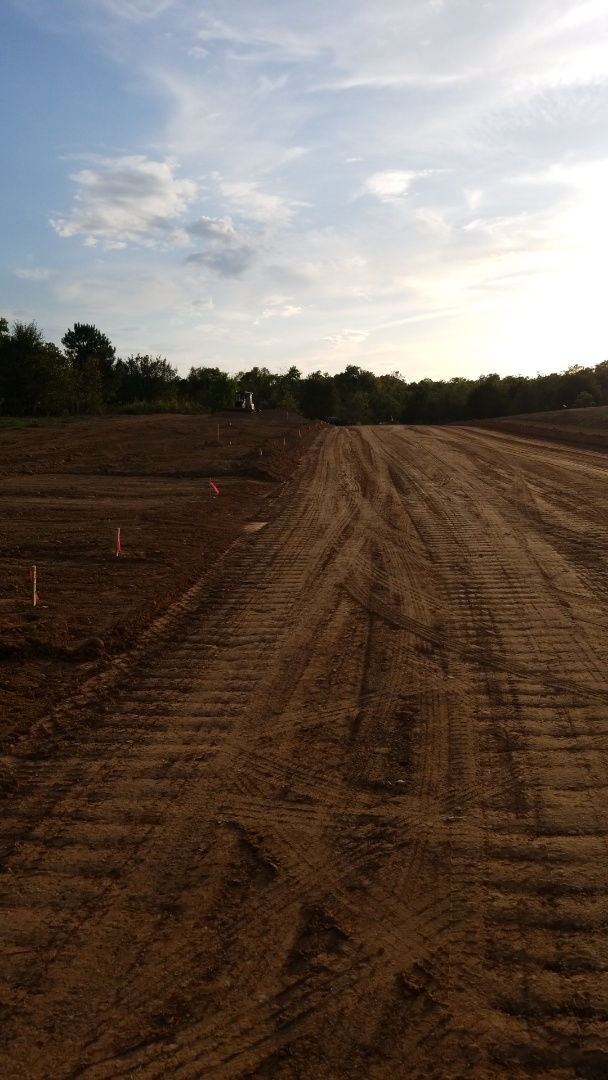 Laying out back out curb and property for utilities. Prattville is growing.  #HomePlace Subd #Littlehousedevelopers
