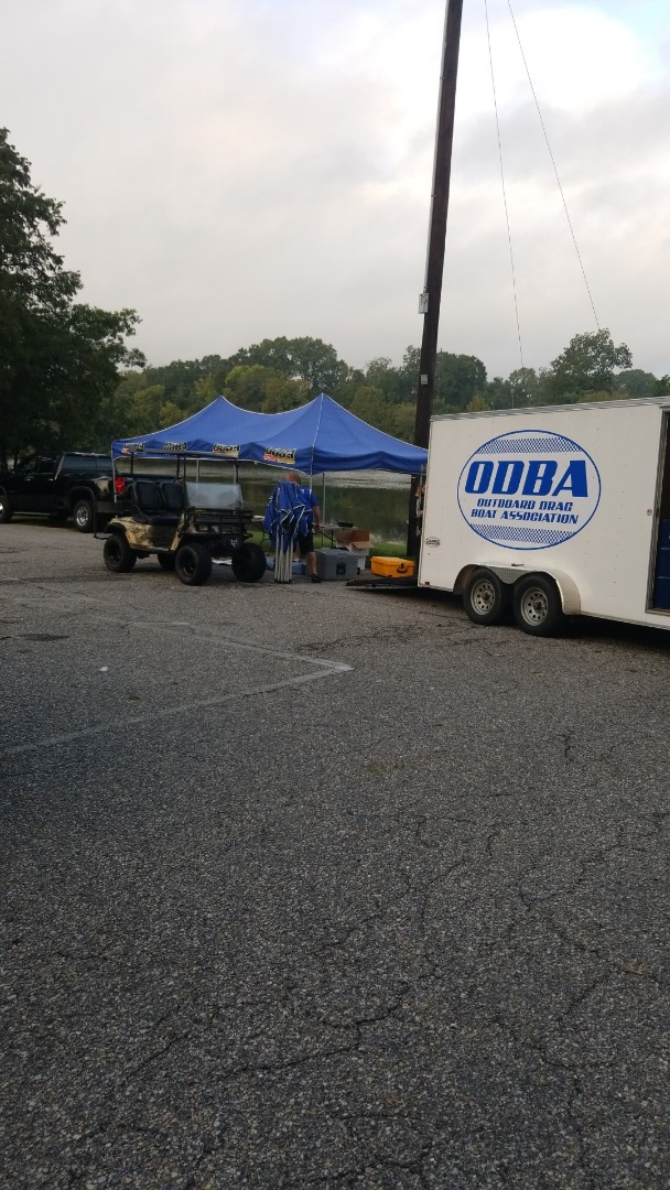 Wetumpka, AL - It's always a pleasure to assist the Outboard Drag Boat Assocation in laying out the 800' long course.