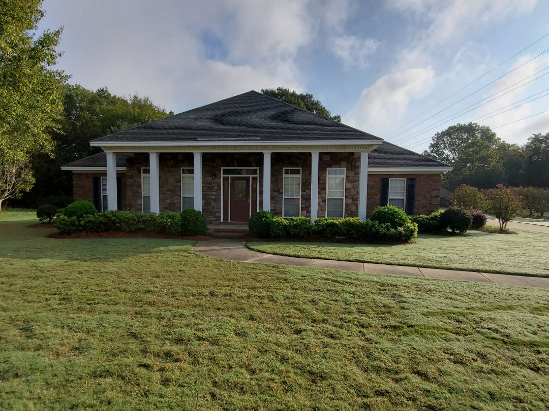 Wetumpka, AL - Nice cool morning to be working on a mortgage survey in Wetumpka, AL