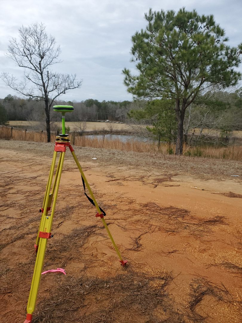 We are working on a retracement survey on a beautiful tract of land!