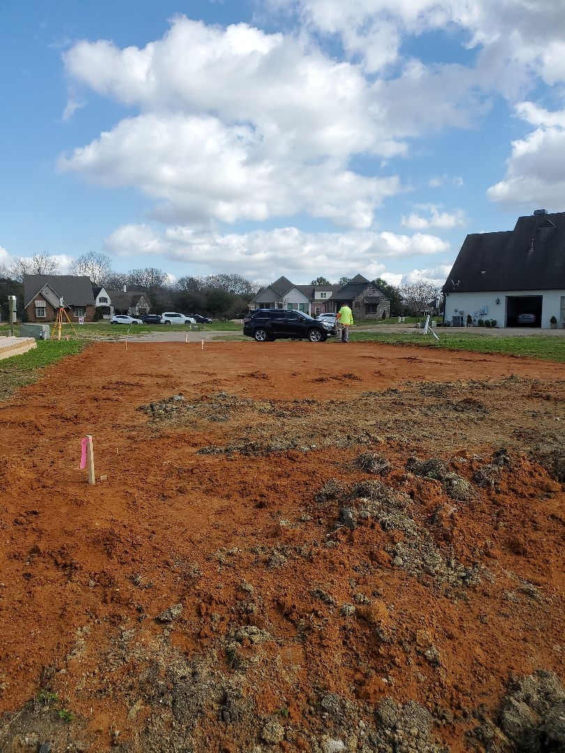 We are laying out a house in Lockwood subdivision!